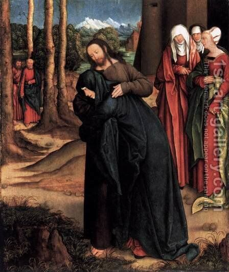 Christ Taking Leave of His Mother by Bernhard Strigel - Reproduction Oil Painting