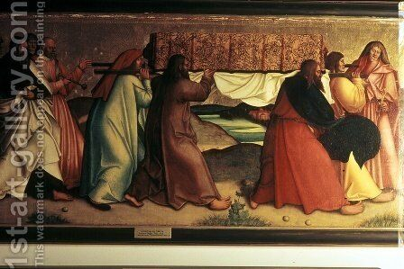 Mary entombment by Bernhard Strigel - Reproduction Oil Painting