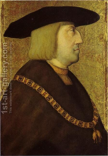 Portrait of Maximilian by Bernhard Strigel - Reproduction Oil Painting
