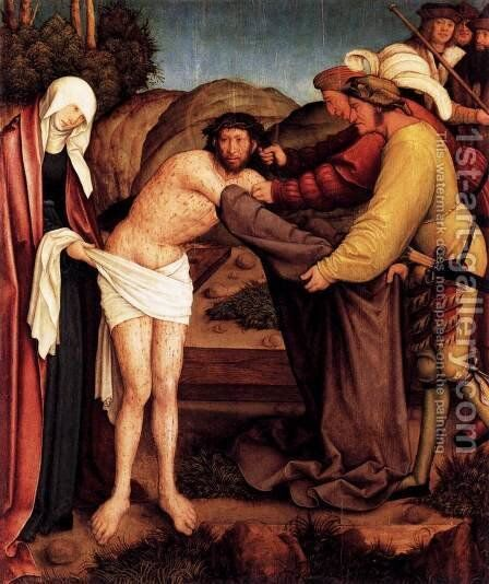 The Disrobing of Christ by Bernhard Strigel - Reproduction Oil Painting