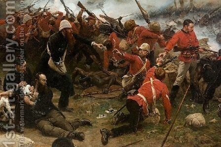 Defence of Rorke's Drift. Detail by Alphonse de Neuville - Reproduction Oil Painting