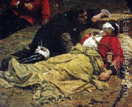The Defense of Rorkes Drift, detail by Alphonse de Neuville - Reproduction Oil Painting