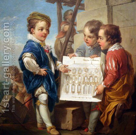 Architecture by Carle van Loo - Reproduction Oil Painting