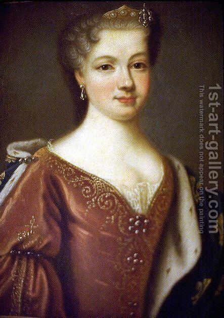 Maria Leszczyska by Carle van Loo - Reproduction Oil Painting