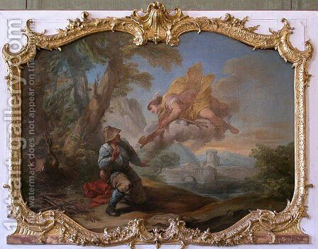 Mercury with axes going to woodcutter by Carle van Loo - Reproduction Oil Painting