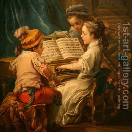 Music by Carle van Loo - Reproduction Oil Painting