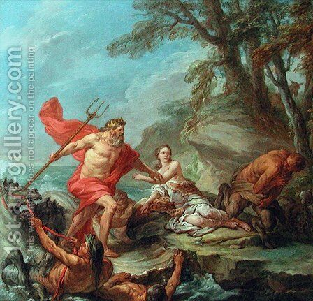 Neptune and Amymone by Carle van Loo - Reproduction Oil Painting