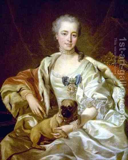 Noble Woman by Carle van Loo - Reproduction Oil Painting