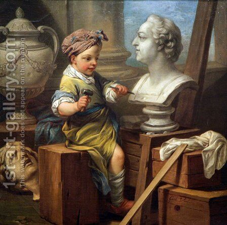 Sculpture by Carle van Loo - Reproduction Oil Painting
