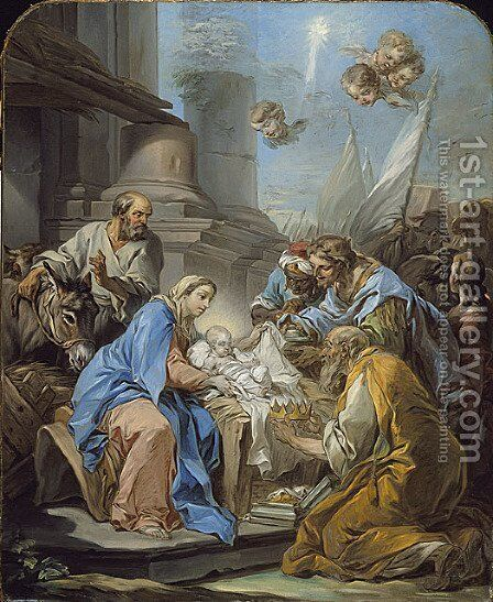 The Adoration of the Magi by Carle van Loo - Reproduction Oil Painting