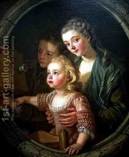 The Magic Lantern by Carle van Loo - Reproduction Oil Painting