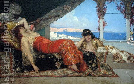 Favorite of the Emir by Benjamin Jean Joseph Constant - Reproduction Oil Painting