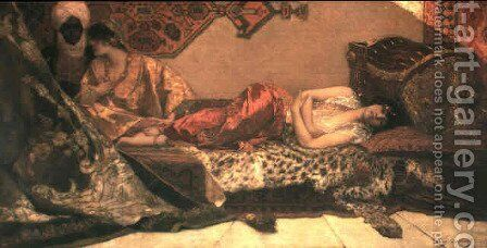Odalisque by Benjamin Jean Joseph Constant - Reproduction Oil Painting