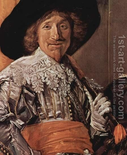 Company of Captain Reinier Reael, known as the 'Meagre Company' (detail 5) by Frans Hals - Reproduction Oil Painting