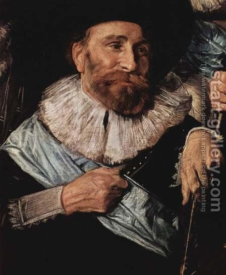 Company of Captain Reinier Reael, known as the 'Meagre Company' (detail 6) by Frans Hals - Reproduction Oil Painting