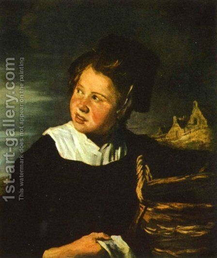 Fishermen girls by Frans Hals - Reproduction Oil Painting