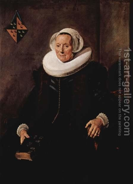 Portrait of Maritge Claesdr. Vooght, wife of Pieter Olycan by Frans Hals - Reproduction Oil Painting