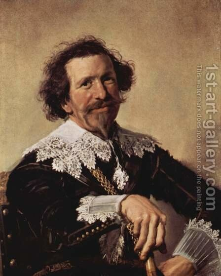 Portrait of Pieter van den Broecke by Frans Hals - Reproduction Oil Painting