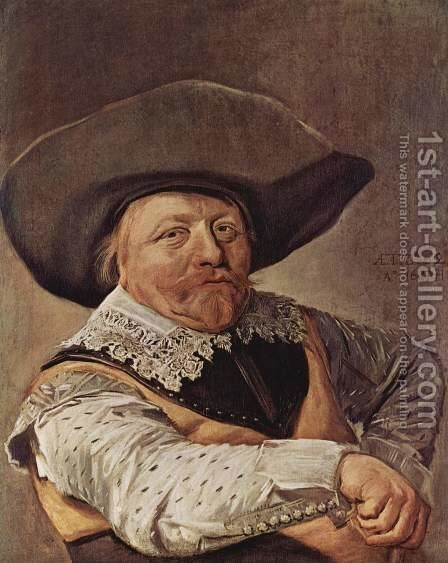 Portrait of a seated officer by Frans Hals - Reproduction Oil Painting