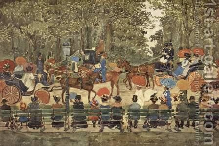 Central Park, 1901 by Maurice Brazil Prendergast - Reproduction Oil Painting