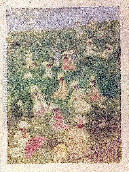 Children at Play by Maurice Brazil Prendergast - Reproduction Oil Painting