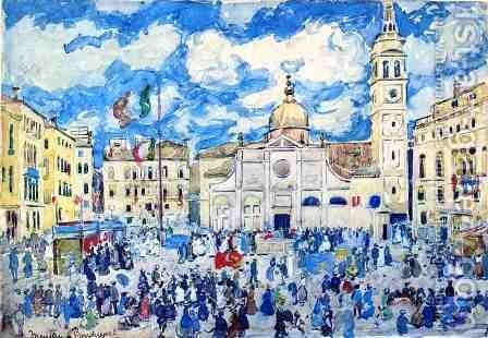Santa Maria Formosa square, Venice by Maurice Brazil Prendergast - Reproduction Oil Painting