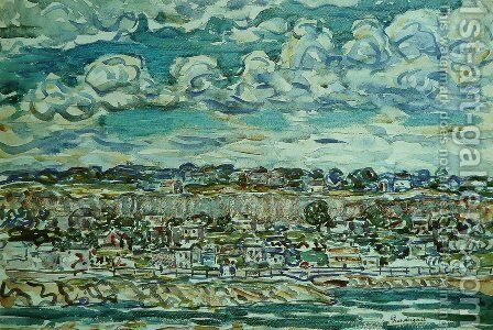 St. Malo 3 by Maurice Brazil Prendergast - Reproduction Oil Painting