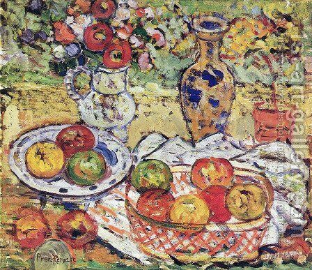 Still Life With Apples 2 by Maurice Brazil Prendergast - Reproduction Oil Painting