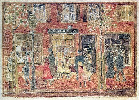 Street Scene by Maurice Brazil Prendergast - Reproduction Oil Painting