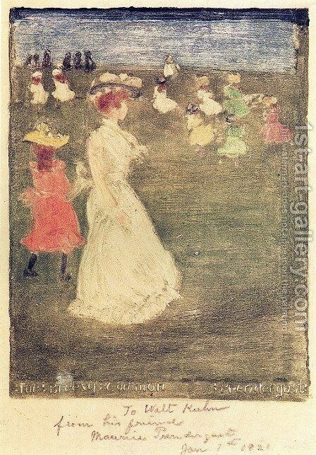 The Breezy Common by Maurice Brazil Prendergast - Reproduction Oil Painting