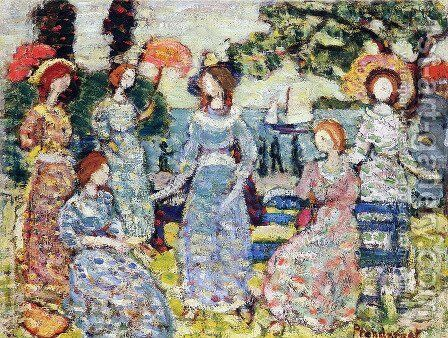 The Grove by Maurice Brazil Prendergast - Reproduction Oil Painting