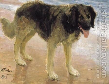 Man's best friend by Ilya Efimovich Efimovich Repin - Reproduction Oil Painting