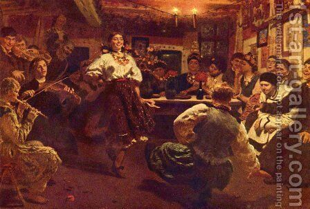 Party by Ilya Efimovich Efimovich Repin - Reproduction Oil Painting
