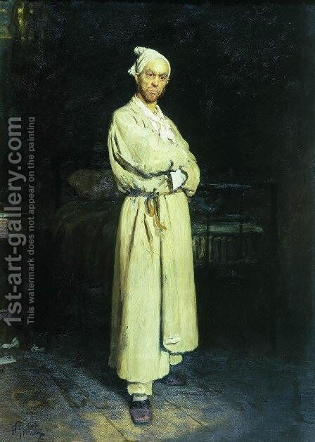 Poprishchin (protagonist of the novel by Nikolai Vasilievich Gogol 'Diary of a Madman') by Ilya Efimovich Efimovich Repin - Reproduction Oil Painting