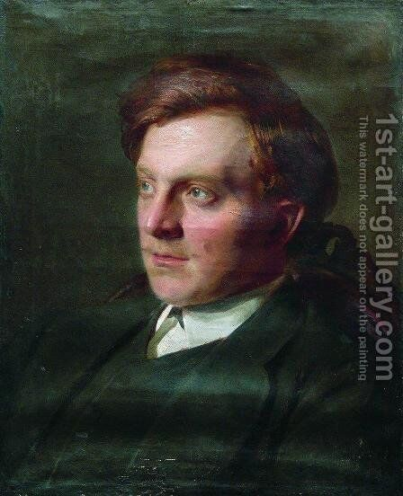 Portrait of Ivan Timofeevich Savenkov in his St. Petersburg university student years by Ilya Efimovich Efimovich Repin - Reproduction Oil Painting