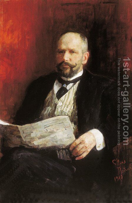 Portrait of Prime Minister Pyotr Arkadyevich Stolypin by Ilya Efimovich Efimovich Repin - Reproduction Oil Painting