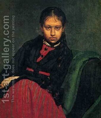 Portrait of V.A. Shetsova by Ilya Efimovich Efimovich Repin - Reproduction Oil Painting