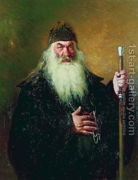Portrait of an archdeacon by Ilya Efimovich Efimovich Repin - Reproduction Oil Painting