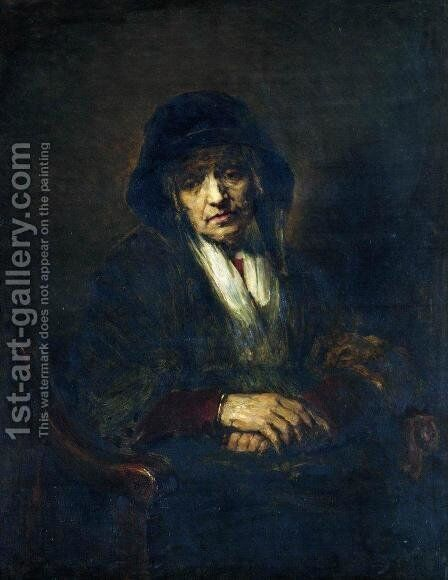 Portrait of an old woman by Ilya Efimovich Efimovich Repin - Reproduction Oil Painting