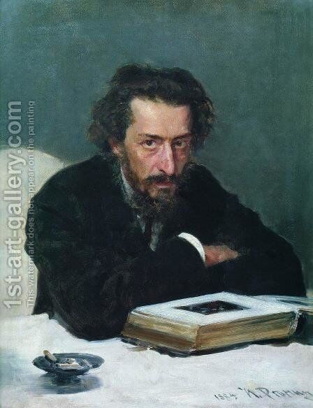 Portrait of composer and journalist Pavel Ivanovich Blaramberg by Ilya Efimovich Efimovich Repin - Reproduction Oil Painting