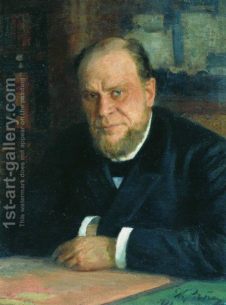 Portrait of lawyer Anatoly Fyodorovich Koni by Ilya Efimovich Efimovich Repin - Reproduction Oil Painting