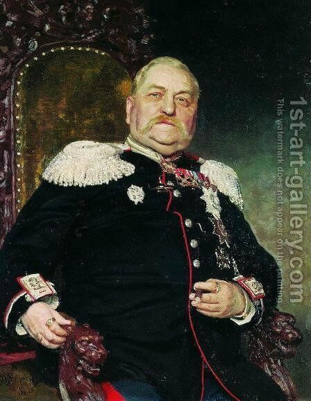Portrait of military engineer Andrei Ivanovich Delvig by Ilya Efimovich Efimovich Repin - Reproduction Oil Painting