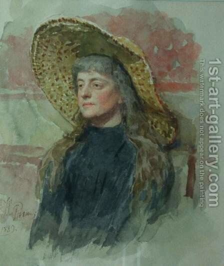 Portrait of painter Elizabeta Nikolayevna Zvantseva by Ilya Efimovich Efimovich Repin - Reproduction Oil Painting