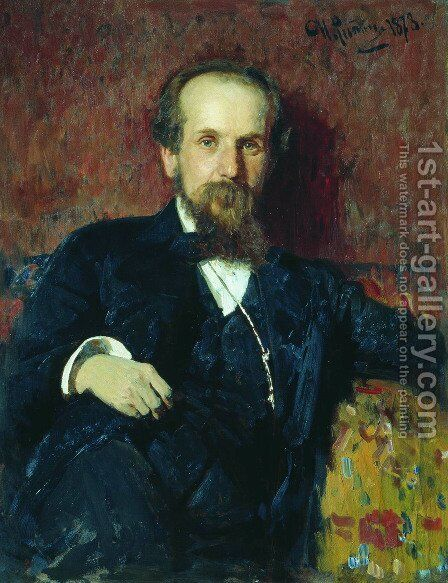 Portrait of the painter Pavel Petrovich Chistyakov by Ilya Efimovich Efimovich Repin - Reproduction Oil Painting
