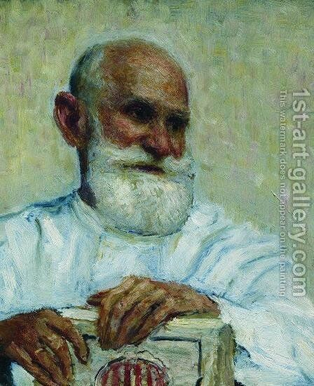 Portrait of the physiologist Ivan Petrovich Pavlov by Ilya Efimovich Efimovich Repin - Reproduction Oil Painting