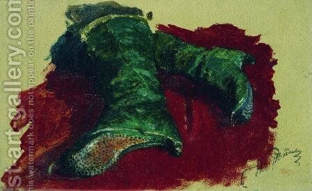 Tsarevich's boots by Ilya Efimovich Efimovich Repin - Reproduction Oil Painting