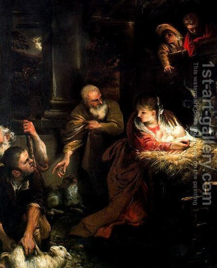 Adoration of the Shepherds by Annibale Carracci - Reproduction Oil Painting