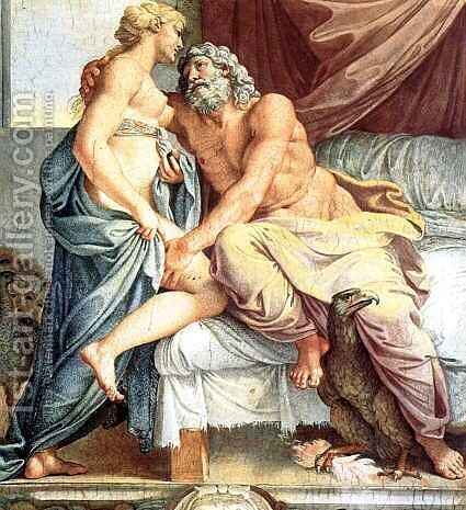 Jupiter and Juno by Annibale Carracci - Reproduction Oil Painting