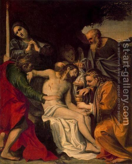 Lamentation of Christ 2 by Annibale Carracci - Reproduction Oil Painting