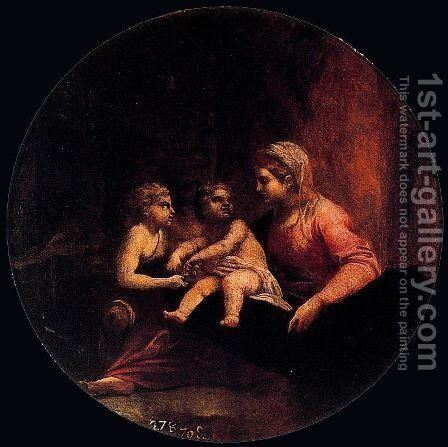 Madonna with Child and St. John by Annibale Carracci - Reproduction Oil Painting